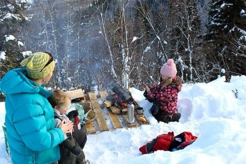 Just because it is winter, doesn't mean you can't have a picnic
