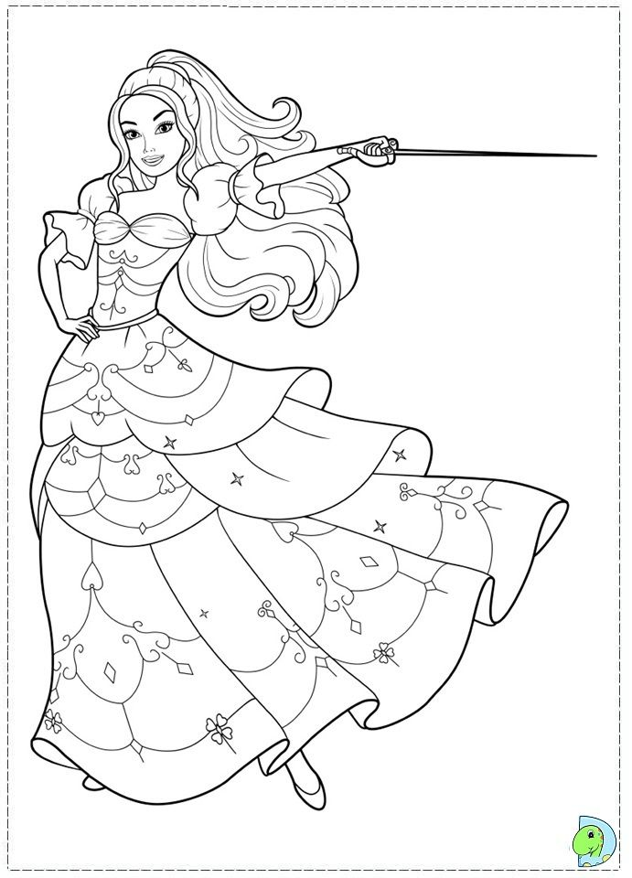 barbie three musketeers Colouring