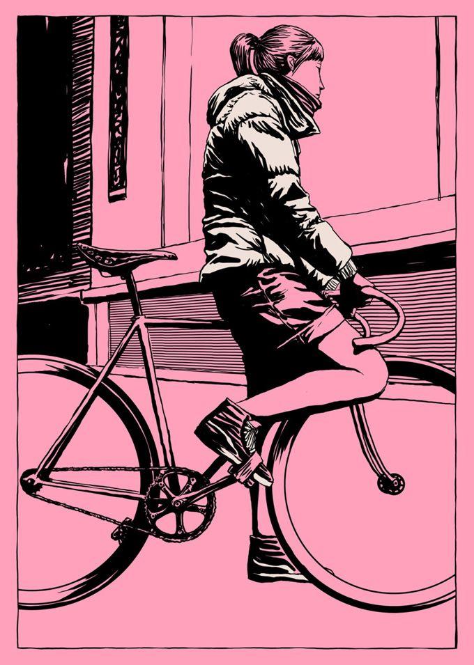 Em um mundo cada vez mais ecologicamente correto, as bicicletas vem ganhando o seu espaço. Com essa insipiração Adams Carvalho um ilustrador formado em Artes