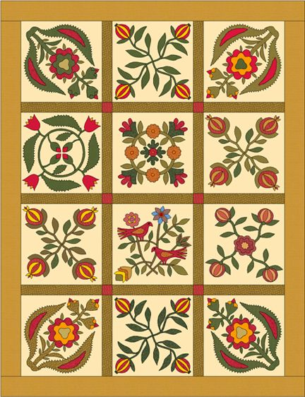 33 Best Baltimore Album Style Quilts Images On Pinterest Sampler