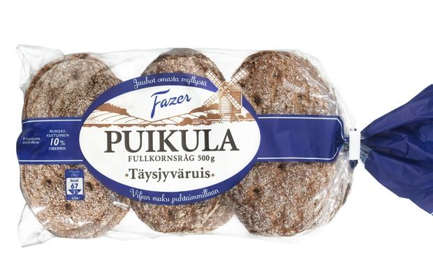 Fazer Puikula Full Rye Bread. Designed shape to fit your mouth. Helsinki. Finland.