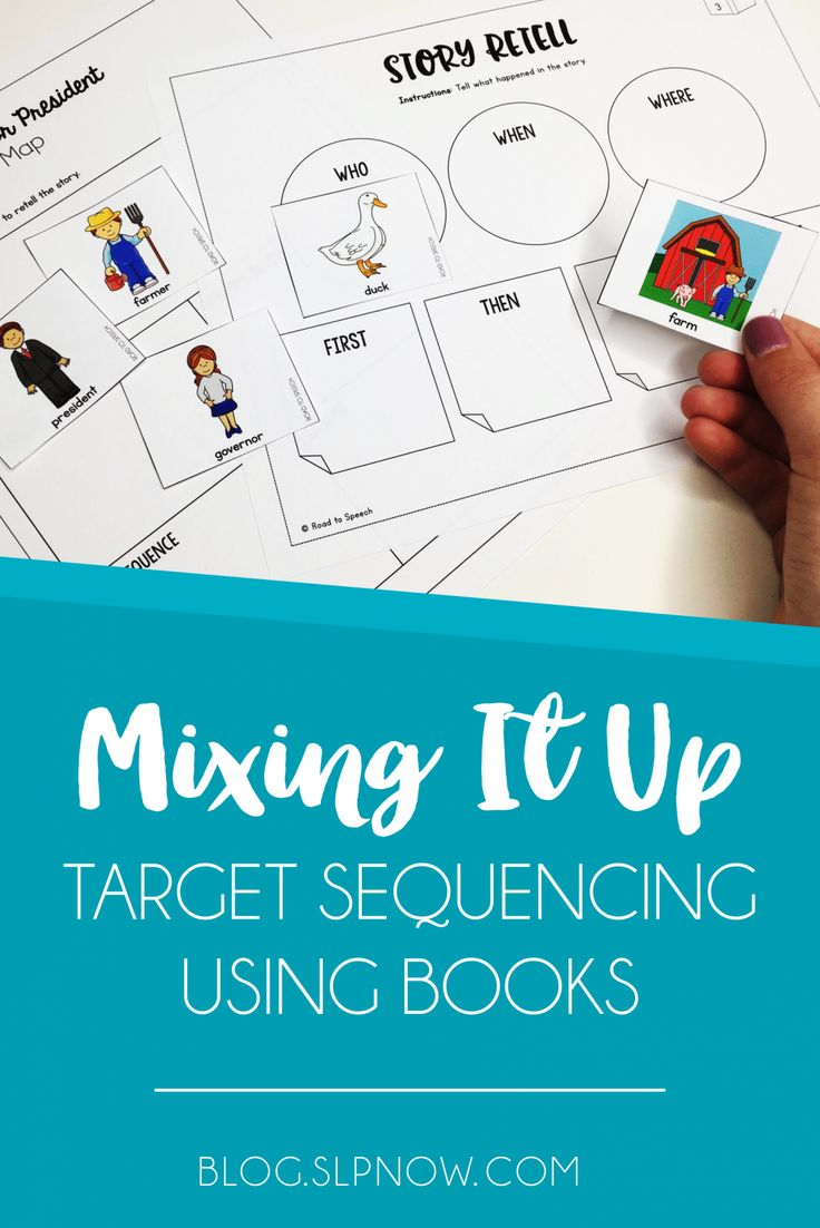 Looking for some new activities to use in therapy? Here is a round-up of literacy-based activities that you could use to target SEQUENCING in your speech room tomorrow!