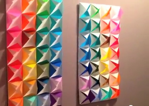 Origami wall decoration gioocoo pinterest wall for Origami decorations for your room