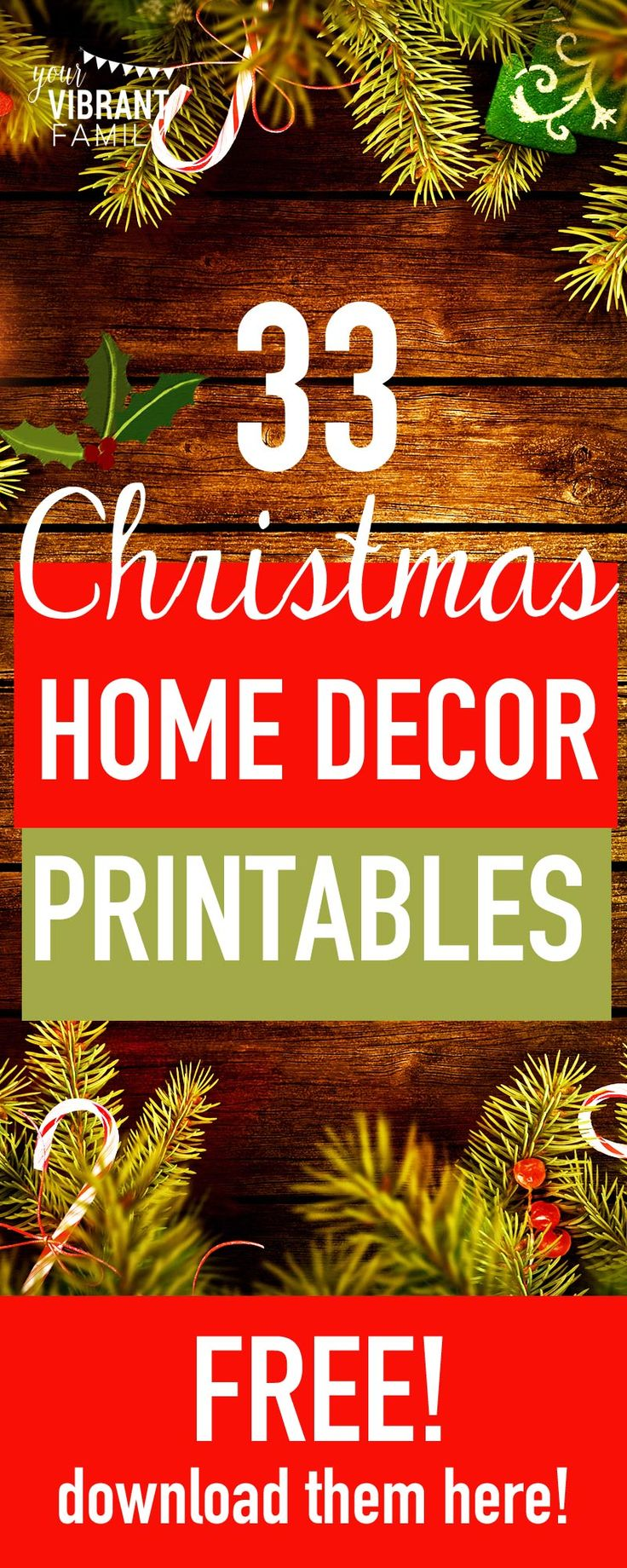 Decorating your home for the holidays? Here's 31 FREE home decor printables that…