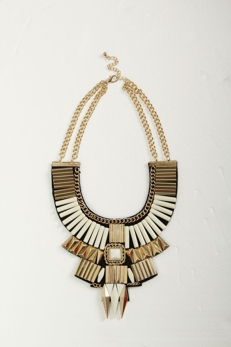 Metallic bib necklace, Zuri , R290