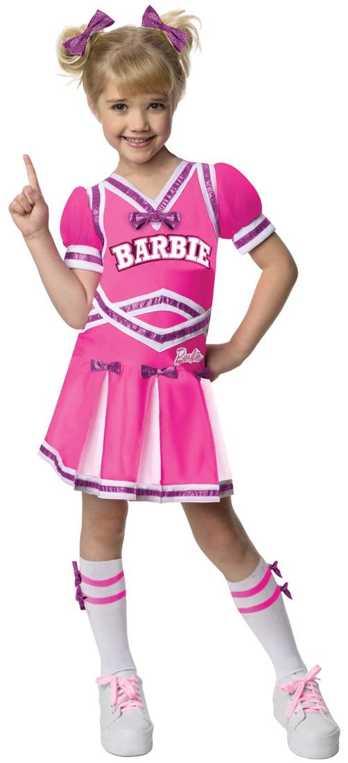 Girls Cheerleader Barbie Costume