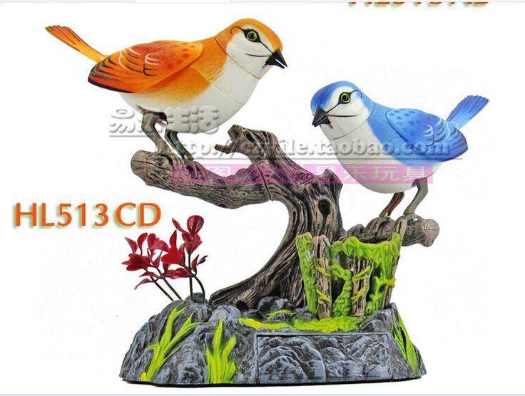 Jakość towarów piękne ptaki Zabawki Elektryczne sterowanie Głosem Zabawki ptaka 15x13x13 cm zabawka prezent w6977