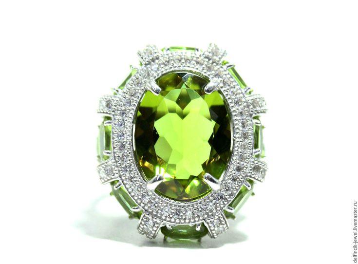 Купить Перстень с султанитом Королева - разноцветный, султанит, диаспор, камень-хамелеон, кольцо с султанитом