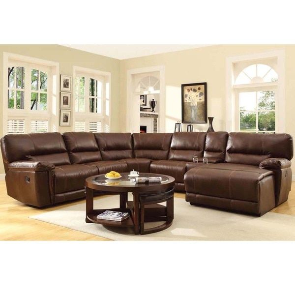 25 best ideas about reclining sectional on pinterest for Bonded leather sectional sofa with chaise