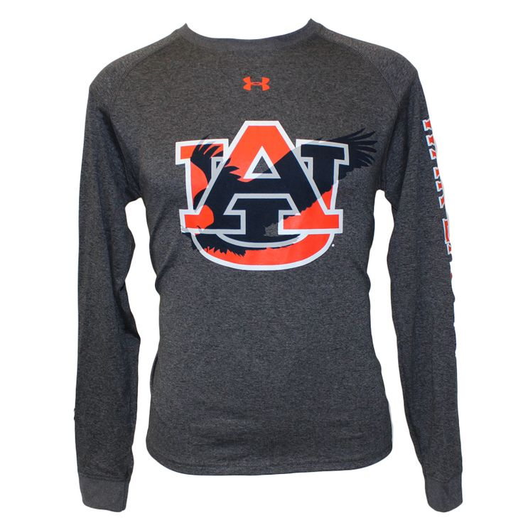 Under Armor longsleeve t-shirt with AU and Eagle design | Auburn University Bookstore