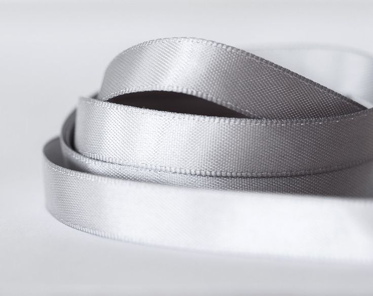 2057_10_Ribbon 10 mm, Silk ribbon, Silver ribbon, Ribbon for jewelry, Double faced ribbon, Gray ribbon, Ribbon double side, Grey satin band. by PurrrMurrr on Etsy