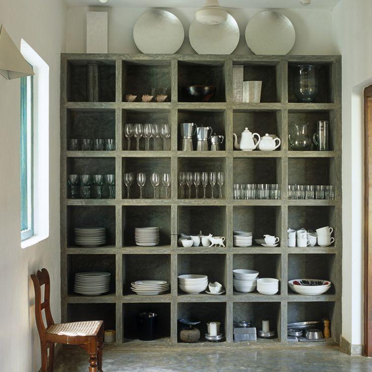estantería de cocina concreto