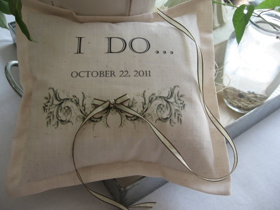 Ring Bearer Pillows Personalized Custom Lettering by AbundantHaven, $27.50