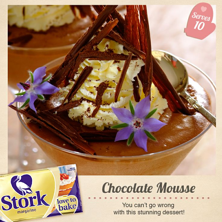 Yummy Chocolate Mousse #recipe. Easy on the eyes and easy to make - what more could you want?!