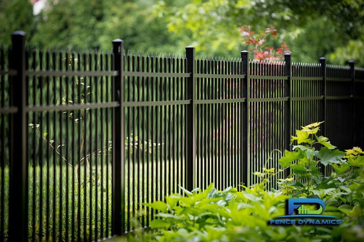 Elegant black aluminum picket fencing is just one of the many options offered by Fence Dynamics. Contact us today at 941-697-4448 for your FREE in-home estimate.