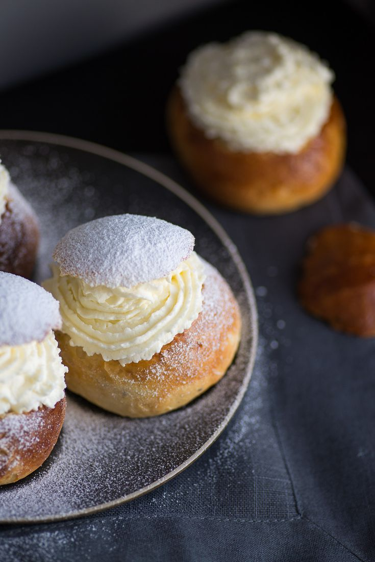 Semlor: Swedish Lent Buns. Recipe adapted from Rachel Khoo. Photography by Mondomulia. #fettisdagen #semlor #semla