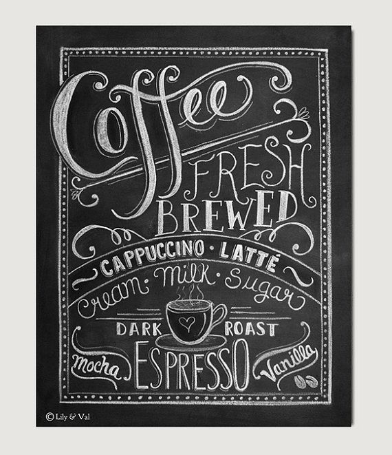 Coffee sign Gift for mom Coffee Lovers gift by LilyandVal
