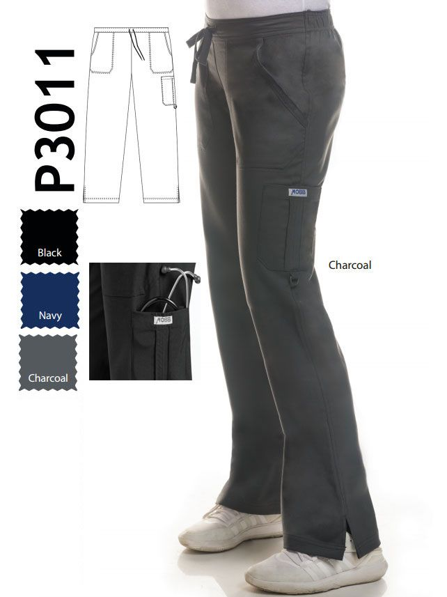 "P3011 :Tall 36 Inch Inseam The Carman - TALL LENGTH featuring a 36"" Inseam!  Mentality's STRETCH-FLEX is made with 65% poly/ 32% rayon /3% spandex for ultimate comfort. This straight leg pant features two front pockets, one back pocket and a cargo pocket with a utility D-ring. It has a combination drawstring/elastic waistband so you are comfortable at all times! The inner waistband features MOBB's signature logo."