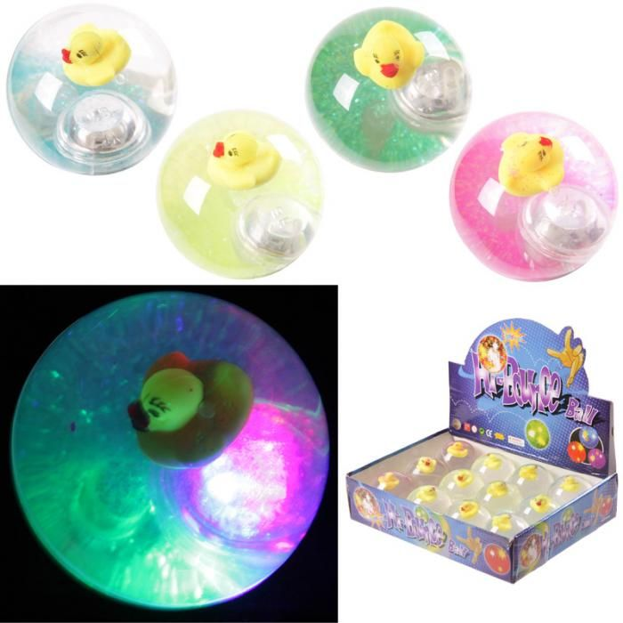 TY543 - Palla Rimbalzante Luminosa - Papera   Puckator IT #partybag #kid #idee #compleanno #bambini