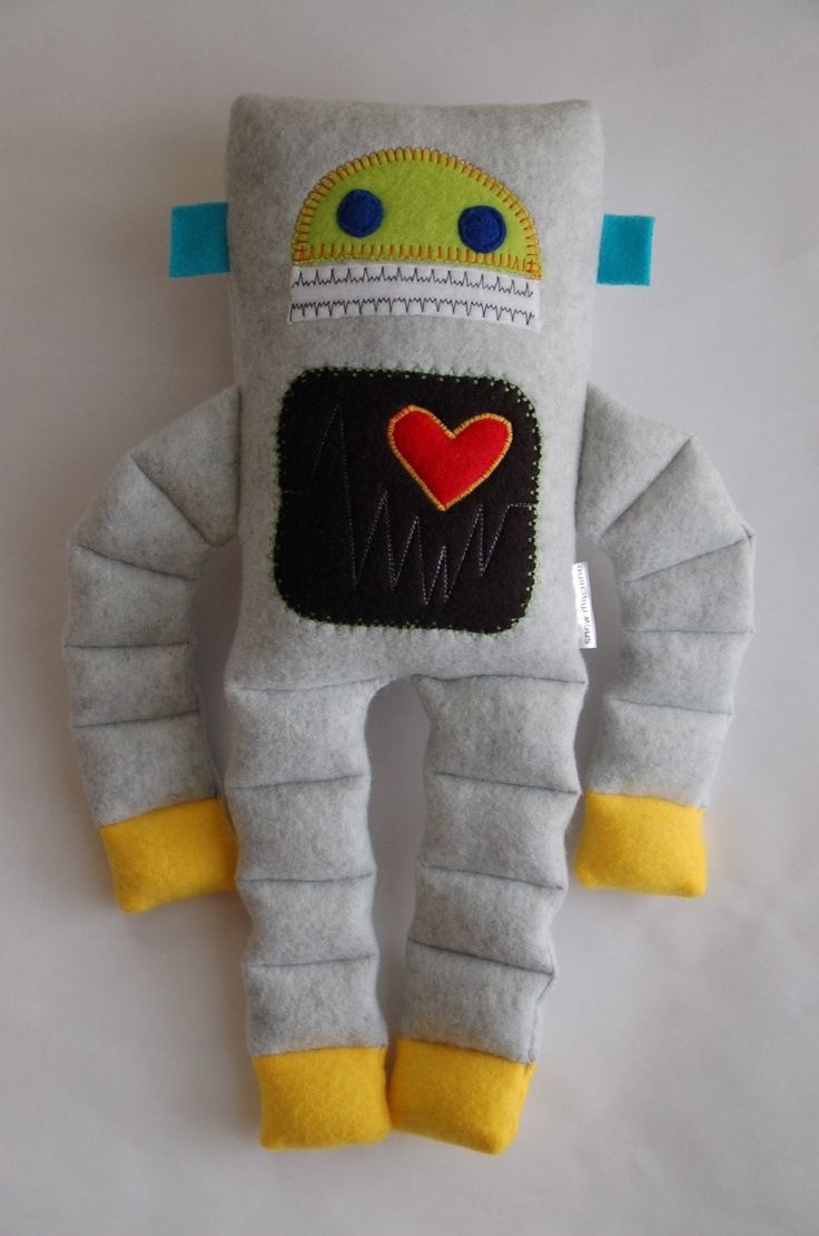 Robot Plushie Medium by SnowMachine on Etsy