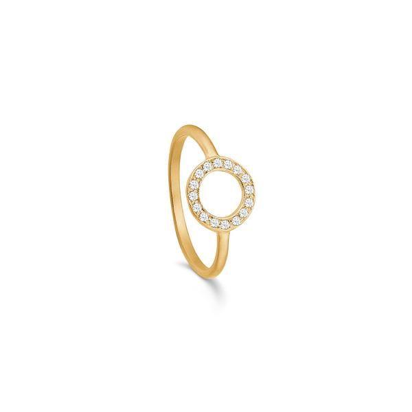 Story forgyldt sølv ring - Cirkel