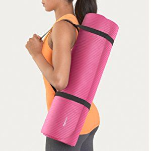 AmazonBasics 1/2-Inch Extra Thick Exercise Mat with Carrying Strap, Pink, Sports & Outdoors - Amazon Canada