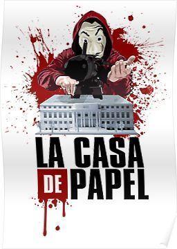 La Casa De Papel Money Heist Poster Com Imagens Casa De