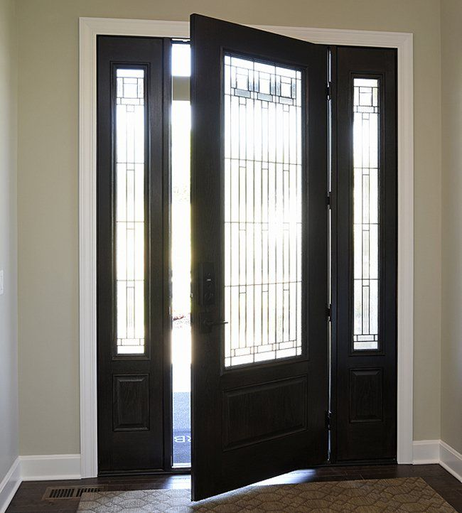 This beautiful front door in a home from Cincinnati Homearama 2016 is from McCabe Lumber. : doors cincinnati - Pezcame.Com