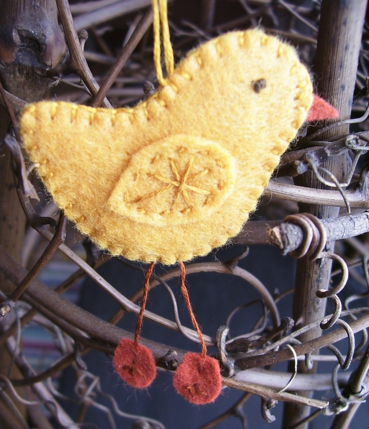 Springti.me chick felt ornament