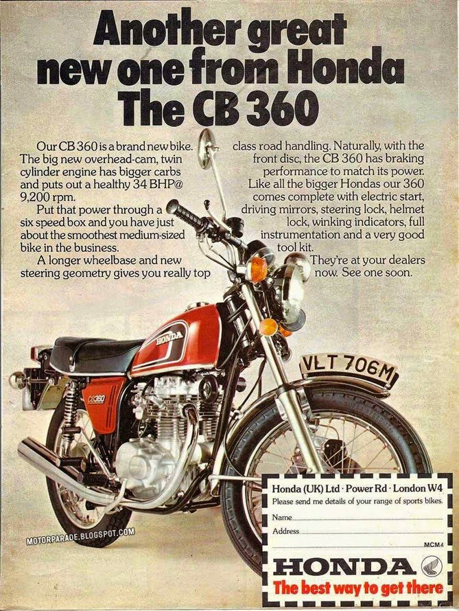 Honda CB 360 1974 (UK)