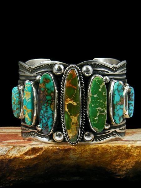 Native American Royston Turquoise Cuff Bracelet
