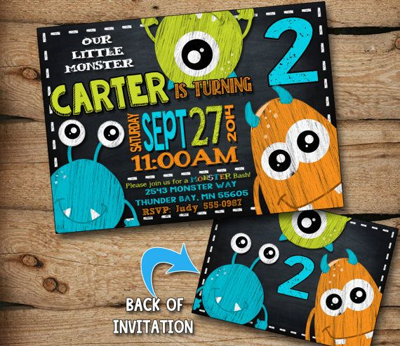 Hey, I found this really awesome Etsy listing at https://www.etsy.com/listing/199625773/monster-birthday-invitation-monster