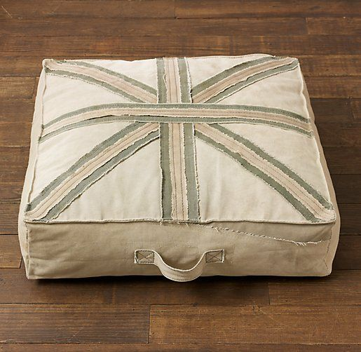 How To Make A Floor Pillow For Baby : Union Jack Recycled Canvas Floor Pillow Floor Pillows Restoration Hardware Baby & Child ...