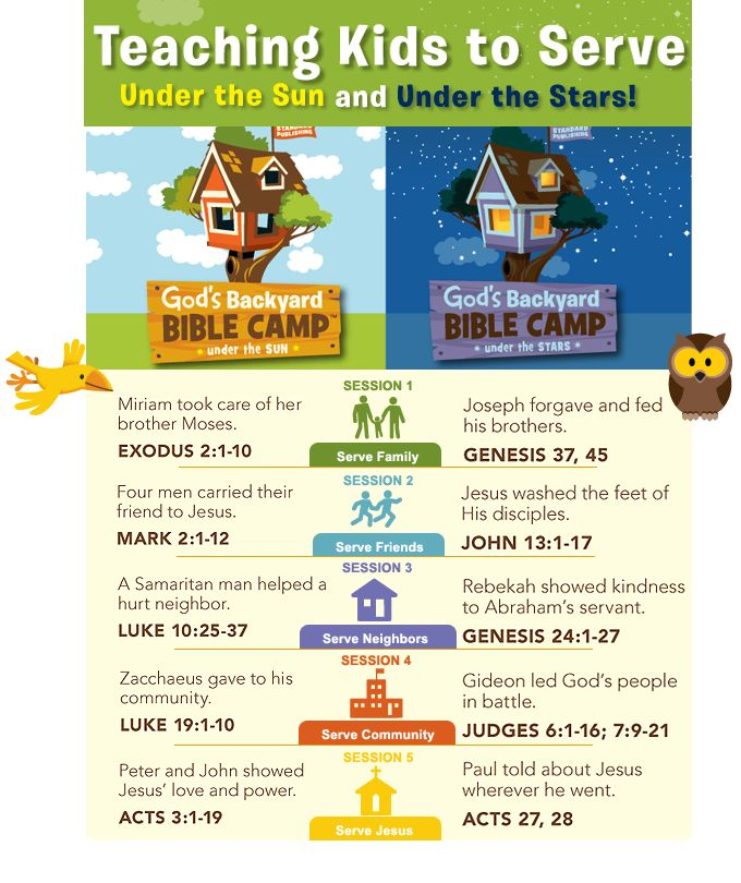 Session overviews for God's Big Backyard: Under the Sun and Under the Stars