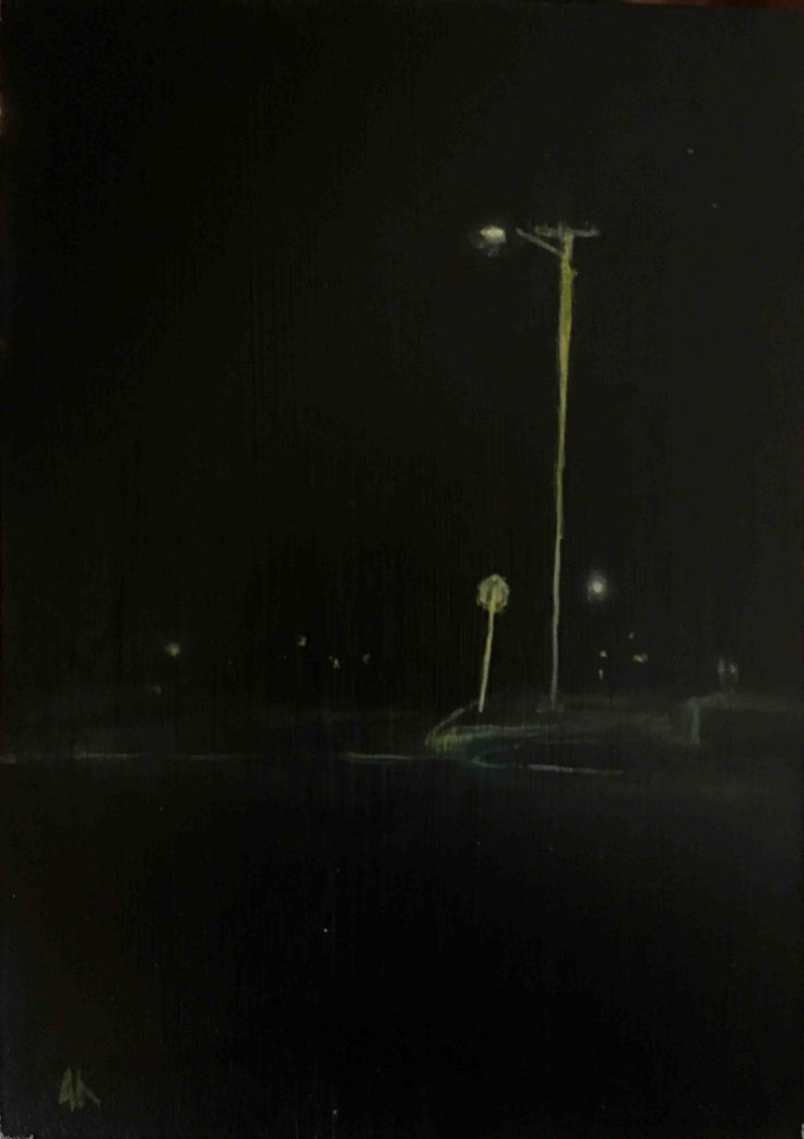 Andy Kent Fremantle Artist Illumination, acrylic on board, 18cm x 12.5cm, $90