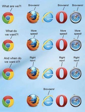 Come demolire Internet #Explorer in una sola immagine. Fantastico !