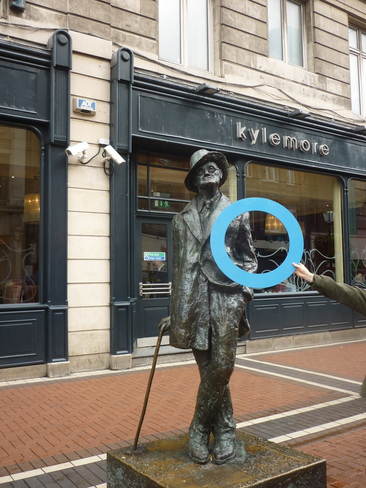Blue Circle Campaign takes on Dublin!  james Joyce