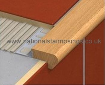 Wood Stair Nosing Step Edging For Tiles,Stone,Wood- For Indoors - National Stair Nosings & Floor Edgings