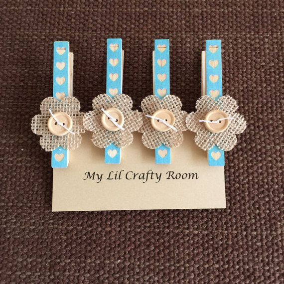 Decorative Clothespin Magnets Set of 4