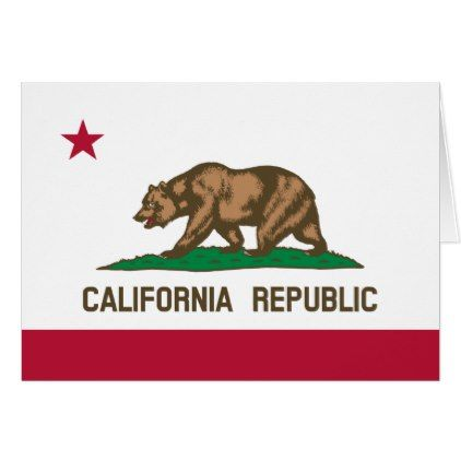 California Republic state flag greeting card - holiday card diy personalize design template cyo cards idea