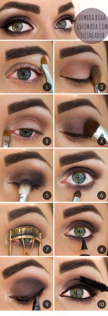 Make up yeux charbonneux et mat