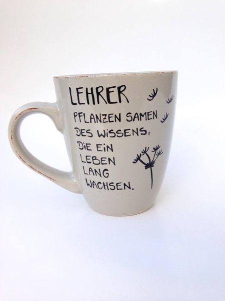 Becher & Tassen - Geschenk für Lehrer ♥ Tasse Danke Lehrerin Schule - ein Designerstück von Hoch-Die-Tassen bei DaWanda