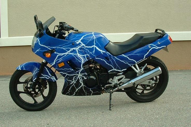 Kawasaki Ninja motorcycle wrap by Artful Signs, Inc