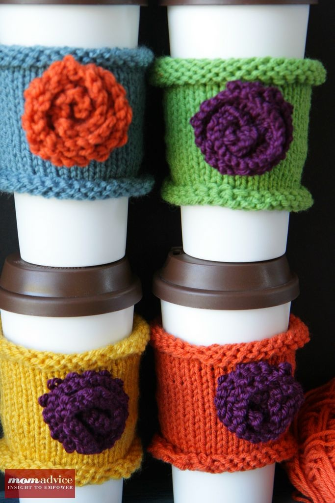 Knitted Coffee Cozies