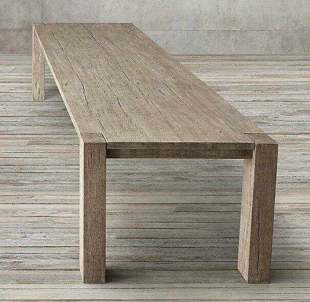 Restoration Hardware Reclaimed Russian Oak Parsons Table