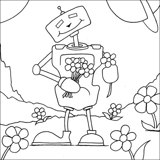 robot-coloring