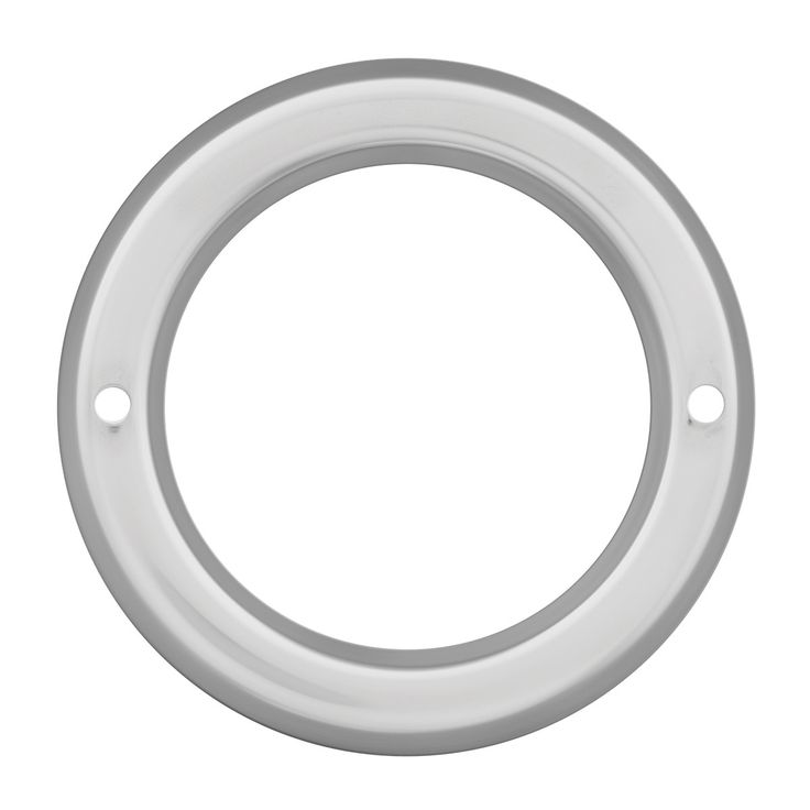 """2"""" Chrome Plastic Grommet Covers Without Visor"""