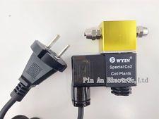 110V yellow CO2 Aquarium Agnetic Electric Solenoid Valve Magnetic Valve -US Plug