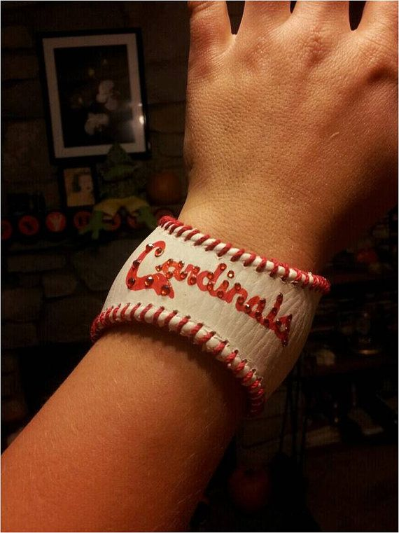 A bracelet made from a baseball. Ingenious! Only if it was for the Phillies :)