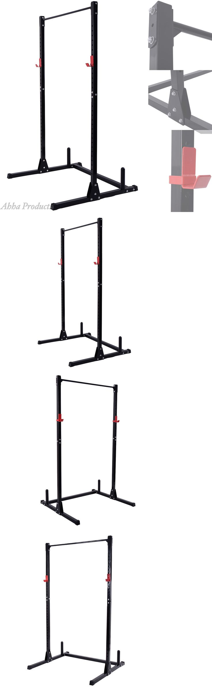 Power Racks and Smith Machines 179815: Adjustable Squat Bench Pull Up Bar Station Weight Lifting Rack Stand Holder Gym -> BUY IT NOW ONLY: $128.79 on eBay!